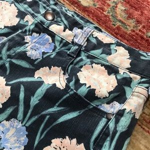 French connection floral painted designer shorts